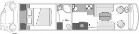 Camping-car de luxe Le Voyageur Liner - 1050SQD CAR